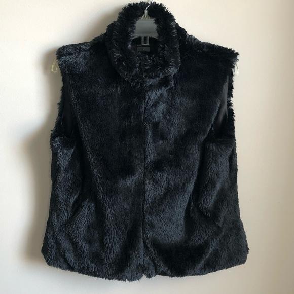 Cejon Jackets & Blazers - Cejon Black Faux Fur Vest